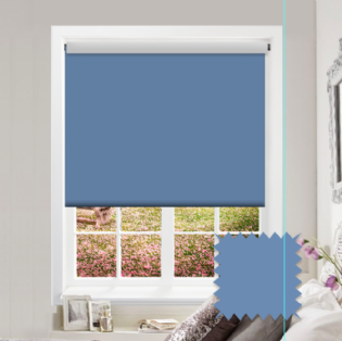 Blue Roller Blind - Bahamas Blueberry